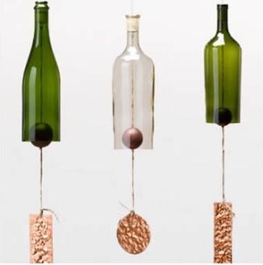 玻璃瓶子手工制作风铃