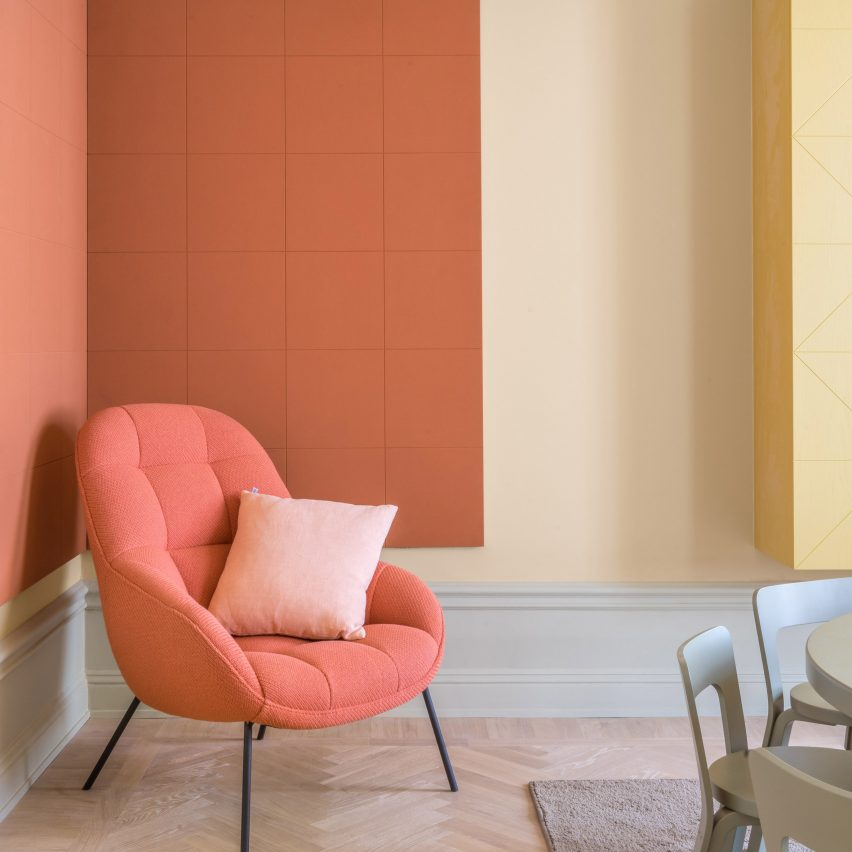 The best coral interiors: Hidden Tints apartment by Note Design Studio