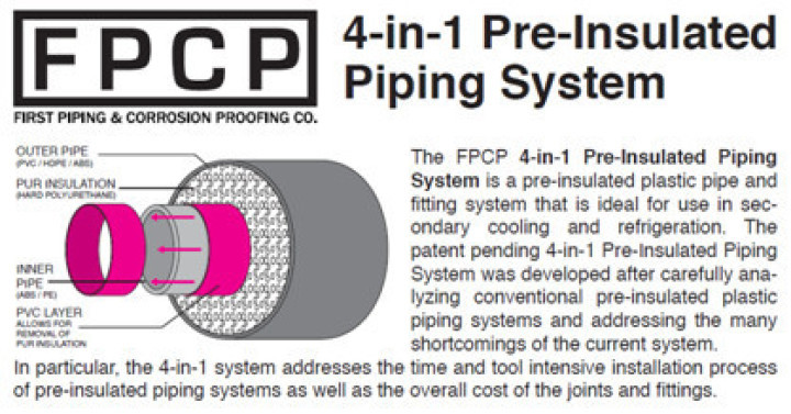 ( 4 in 1 ) Pre-Insulated Piping System (四合一) ABS保冷、保溫管
