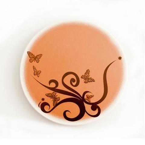 剪影吸水杯墊組 Silhouette of Butterfly – Coaster