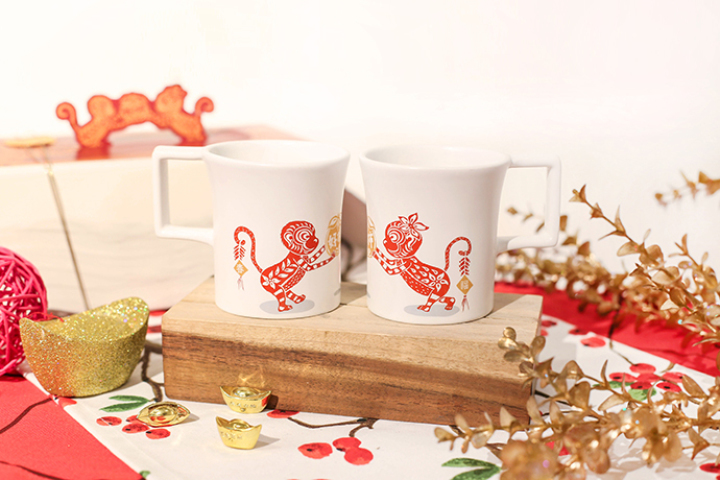 猴年限定- 猴柿成雙(對杯組)/Monkey Year Limited Edition Mugs- Double the Monkey, Double the Luck