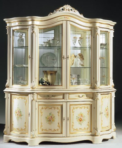 Regina White - Made in Italy - 4 Door China Cabinet